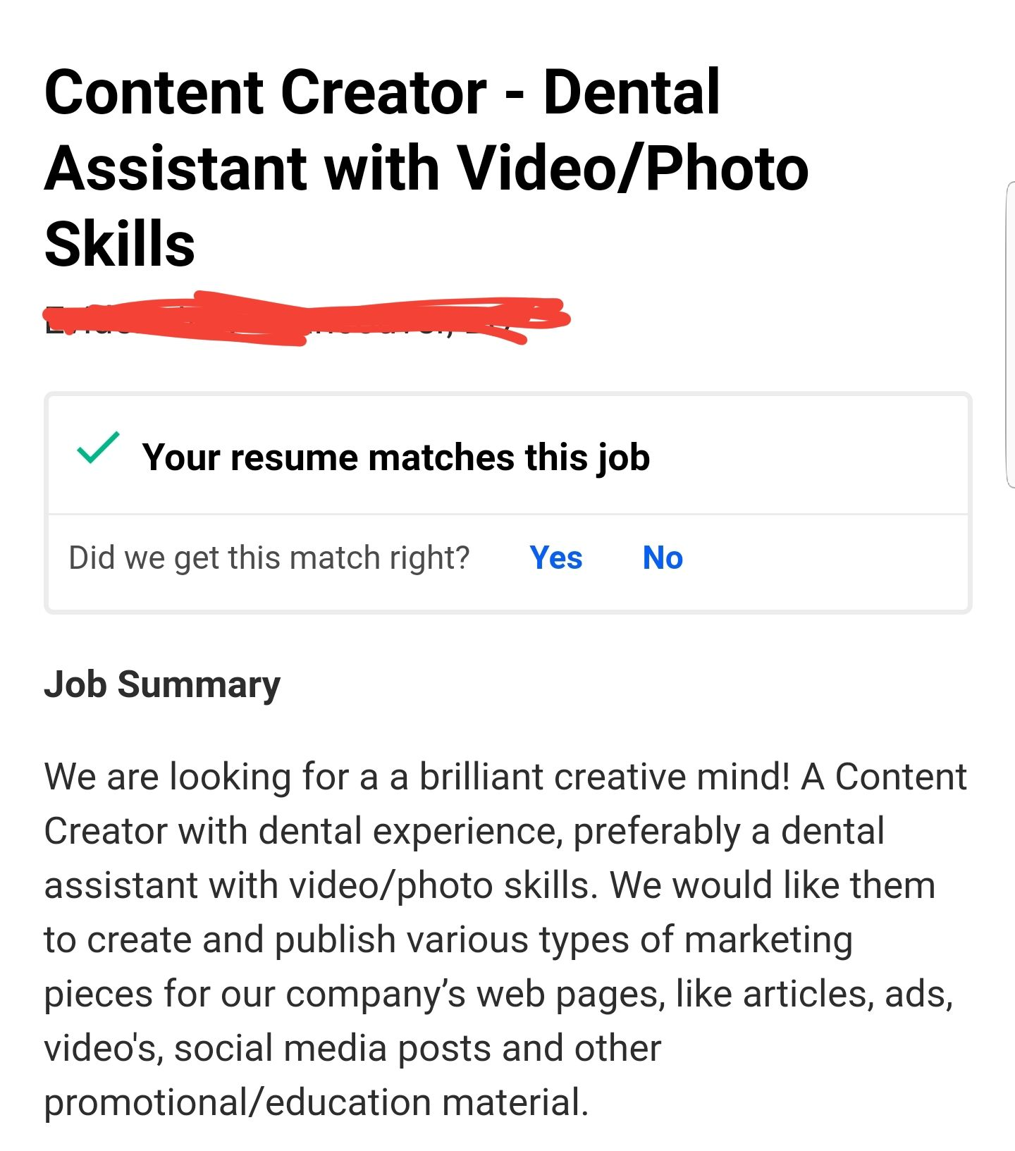 your resume matches this job videography college application examples for high school Resume Your Resume Matches This Job