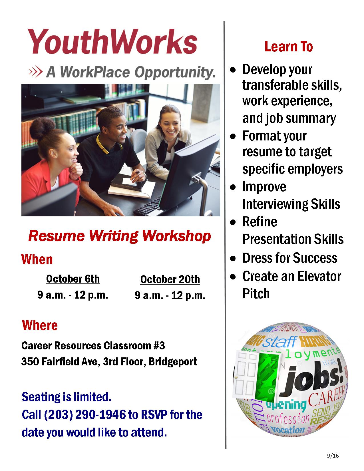 youthworks resume writing workshop the workplace free workshops nyc youth bachelor of Resume Free Resume Workshops Nyc
