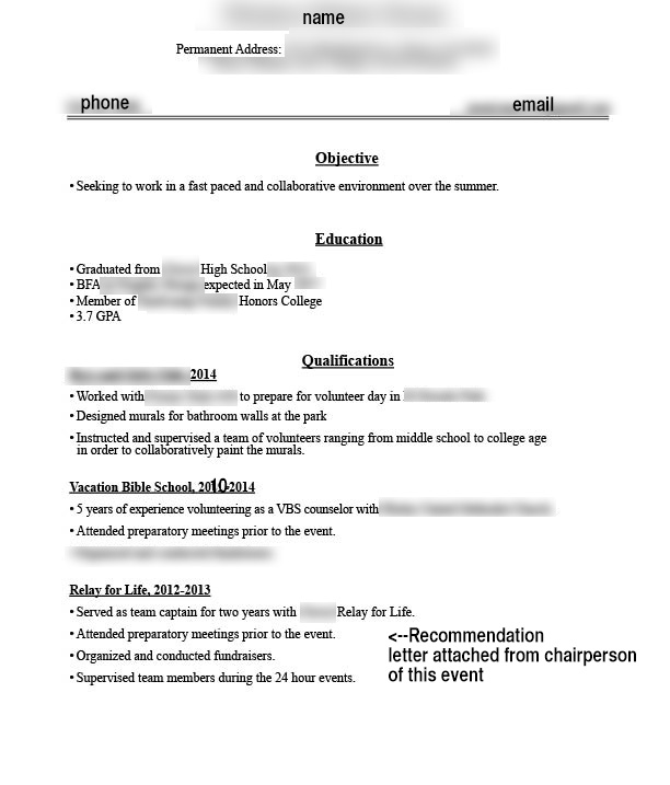 2nd year college student this is resume for my first job does look okay jobs honors Resume Resume For Honors College