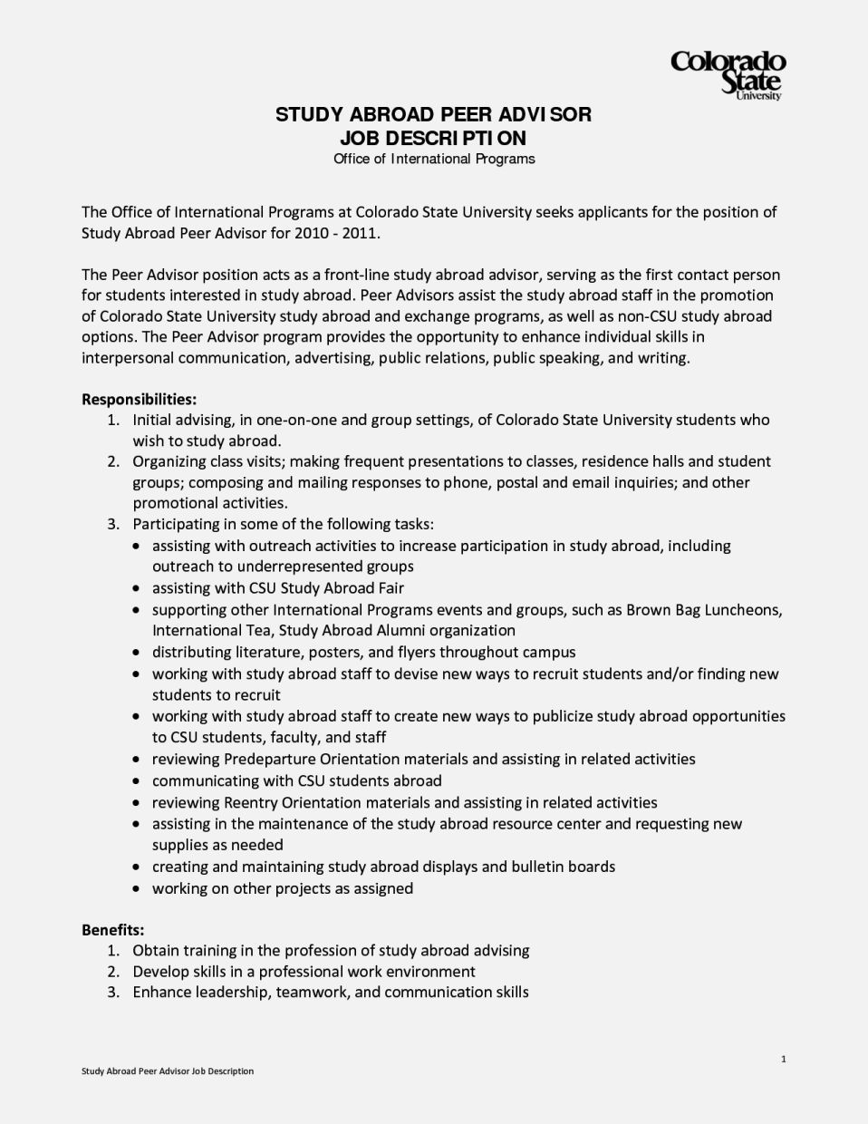 abroad resume format for management template cover letter image result job of Resume Study Abroad Advisor Resume