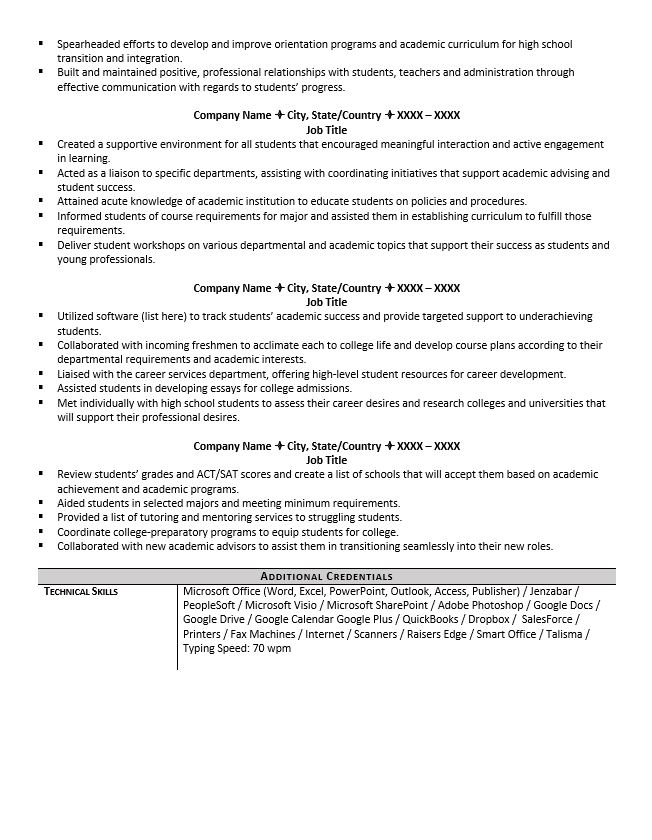 academic advisor resume example tips enrollment counselor sample unscramble word quality Resume Enrollment Counselor Resume