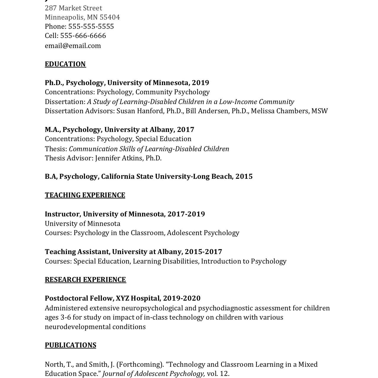 academic curriculum vitae cv example and writing tips professional resume software Resume Professional Academic Resume