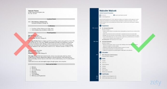 account executive resume sample best examples example of bcom fresher making great high Resume Executive Resume Examples