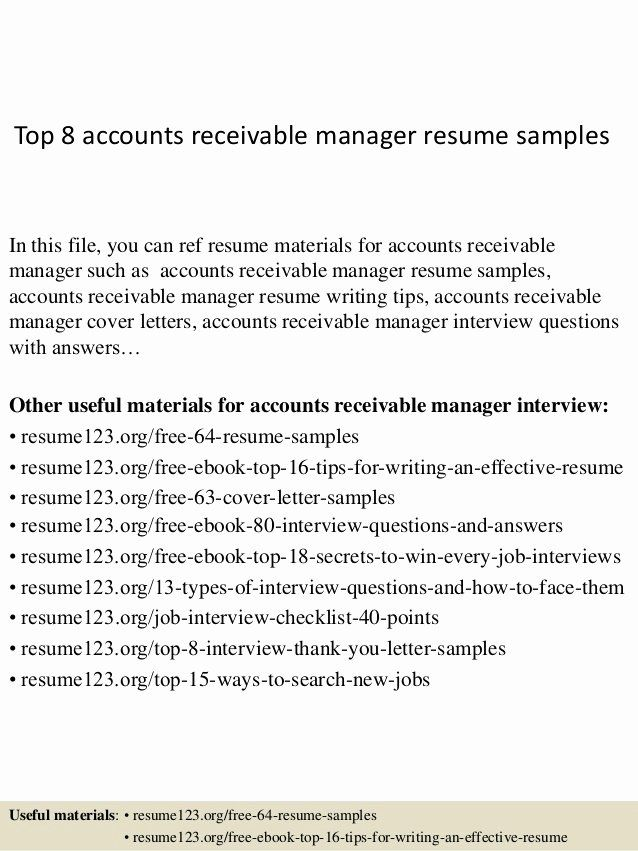 account receivable clerk resume elegant accounts manager job samples security supervisor Resume Accounts Receivable Supervisor Resume