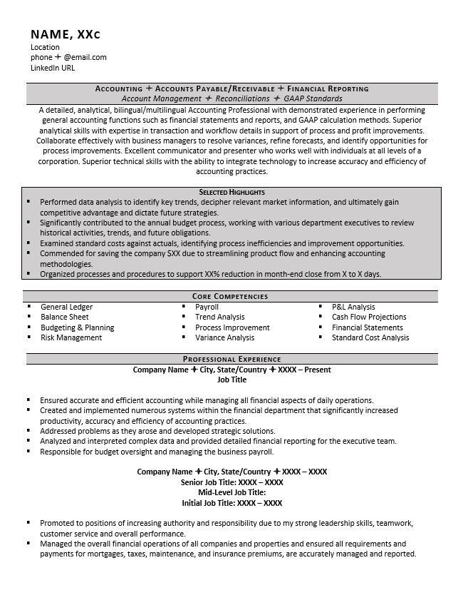 accountant resume example tips payroll examples accounting address symbol for linux years Resume Payroll Accountant Resume Examples