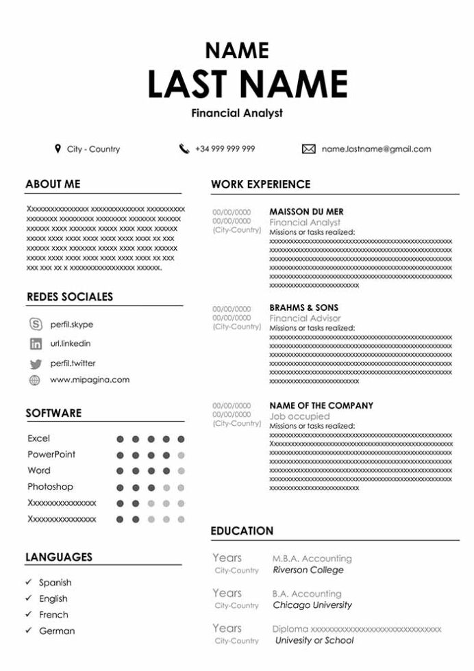 accountant resume sample for word free cvs new model receptionist human resources analyst Resume New Resume Model Download