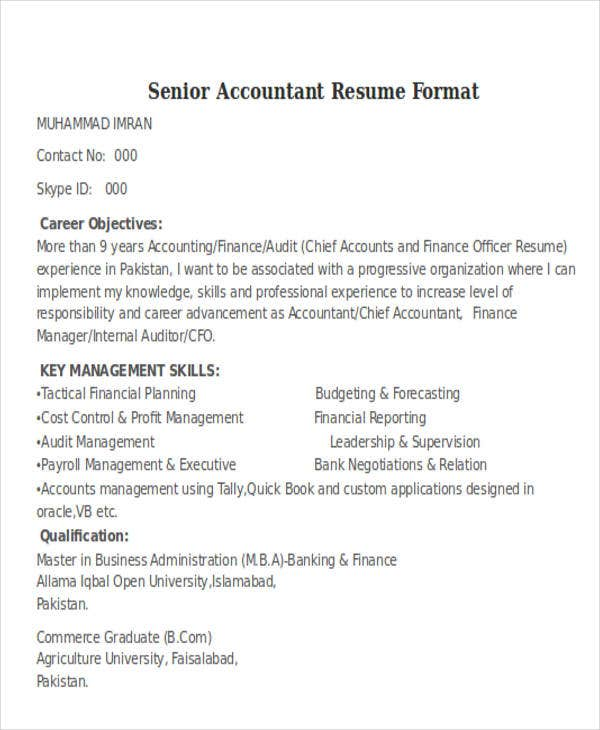 accountant resumes in free premium templates tally experience resume format senior Resume Tally Experience Resume Format