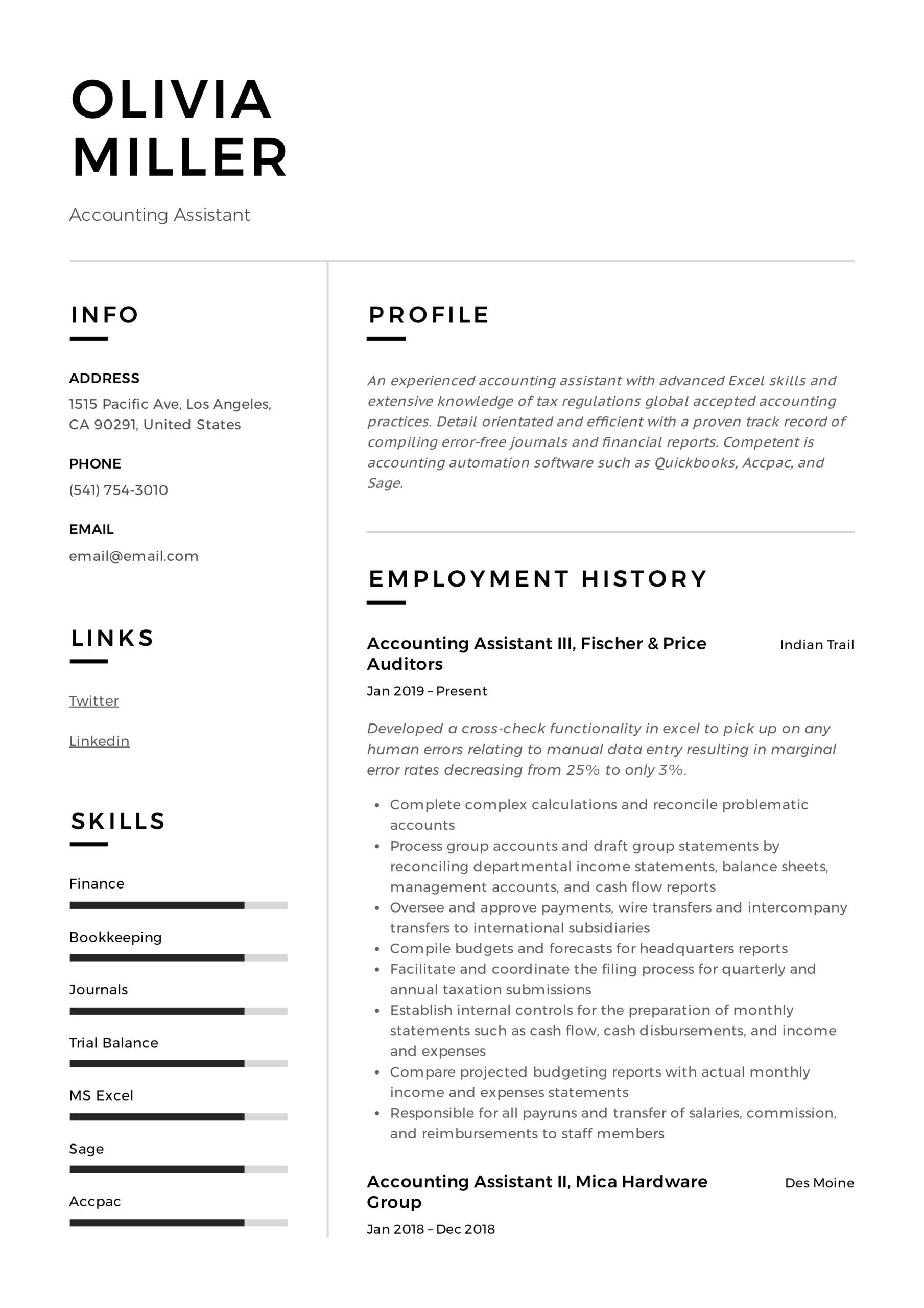 accounting assistant resume writing guide examples pdf account clerk job description for Resume Account Clerk Job Description For Resume