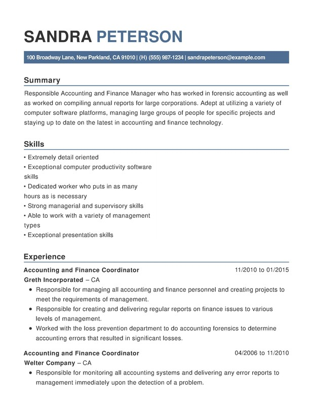 accounting finance functional resume samples examples format templates help skills on sas Resume Finance Skills On A Resume