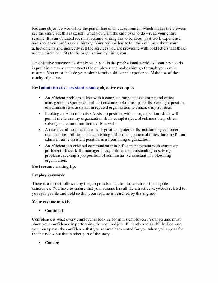 accounting resume objective statements lovely best administrative assistant sample Resume Catchy Resume Objective Statements