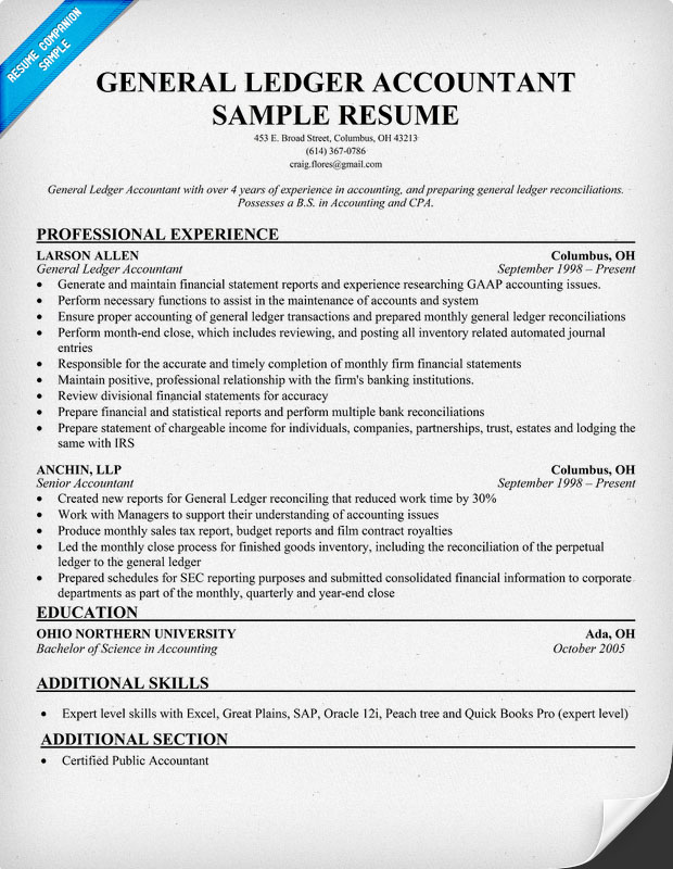 accounting resume writing service and financial services general ledger accountant sample Resume Accounting Resume Writing Services