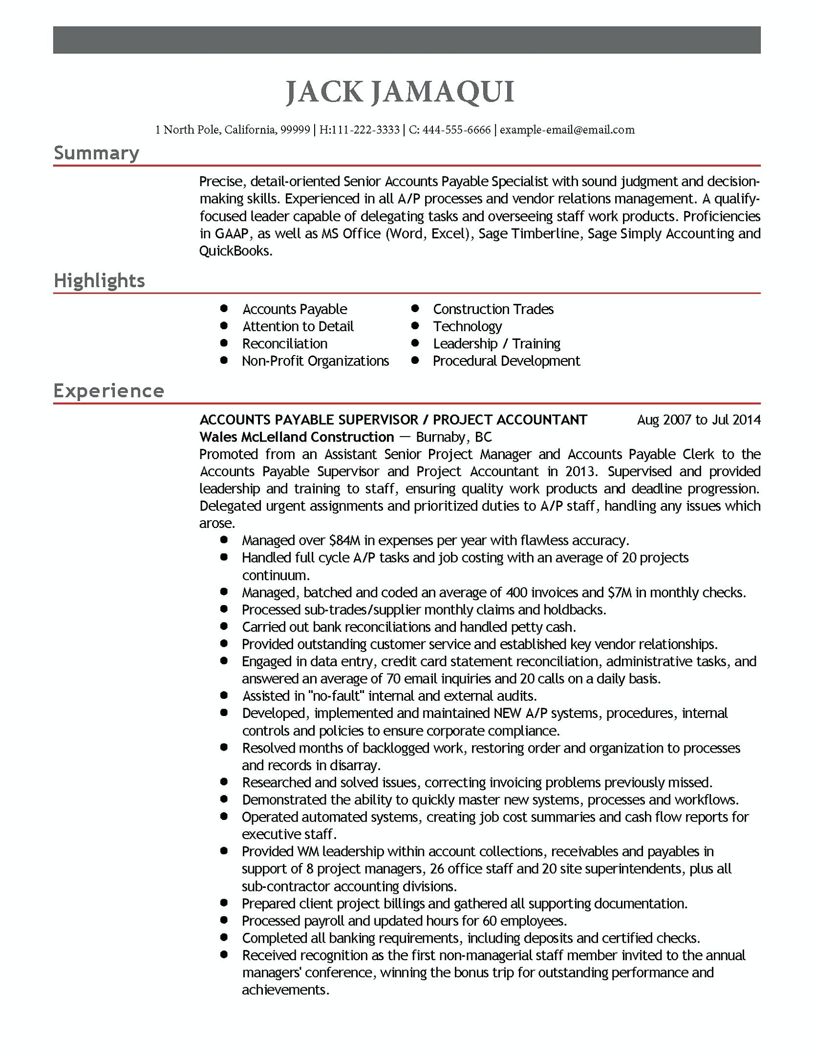 accounts payable manager resume are you with excellent and job examples skills good Resume Accounts Payable Resume Skills