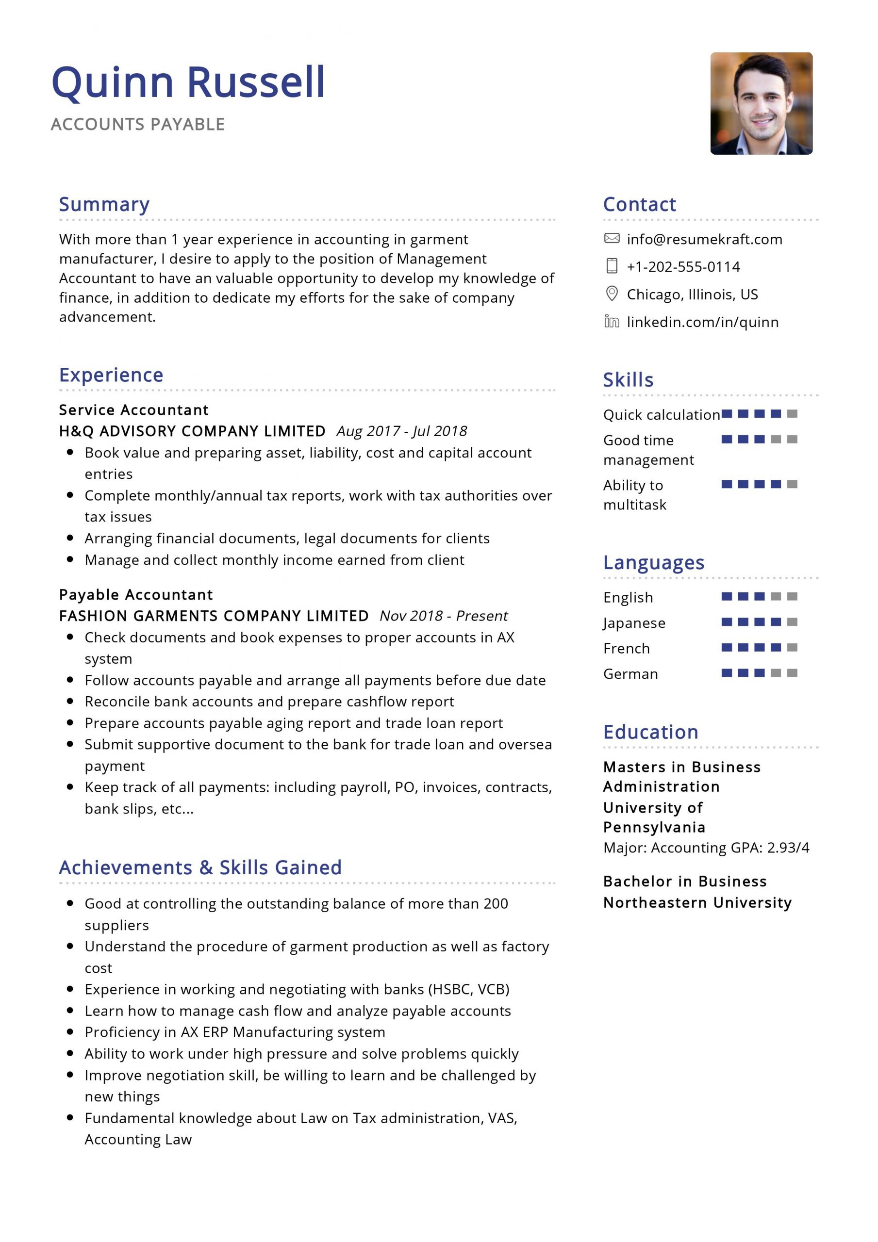 accounts payable resume sample resumekraft skills scaled summary description for Resume Accounts Payable Resume Skills
