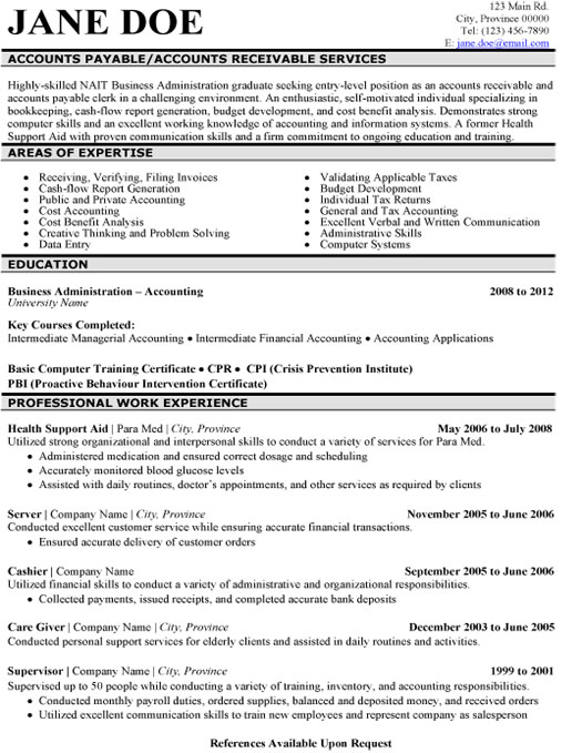 accounts payable resume sample template skills receivable services student exchange Resume Accounts Payable Resume Skills
