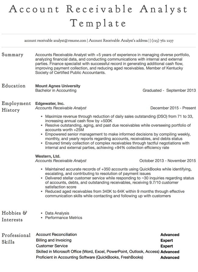 accounts payable resume samples all experience levels skills financial general example Resume Accounts Payable Resume Skills