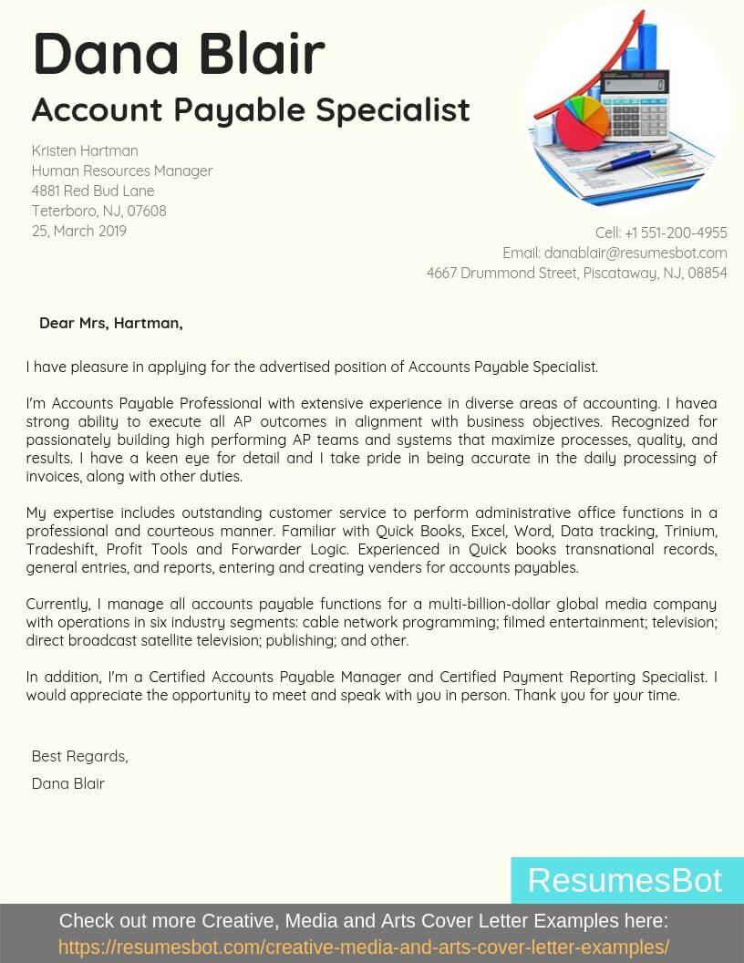 accounts payable specialist cover letter samples templates pdf word letters rb Resume Entertainment Industry Cover Letter Resume