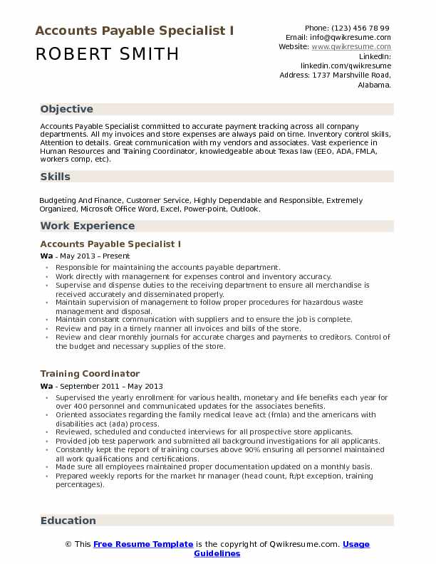 accounts payable specialist resume samples qwikresume skills pdf profile examples for Resume Accounts Payable Resume Skills