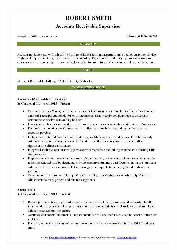 accounts receivable supervisor resume samples qwikresume pdf objective for plant worker Resume Accounts Receivable Supervisor Resume