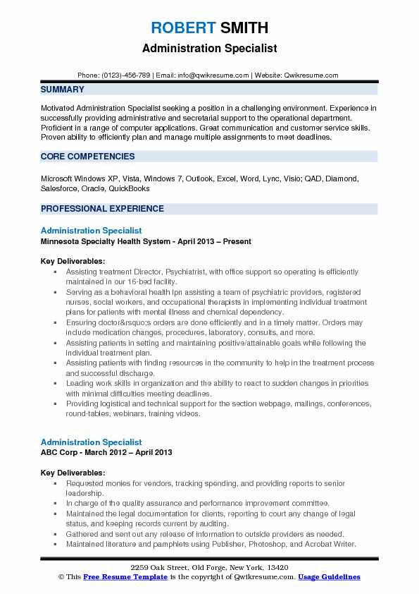 administration specialist resume samples qwikresume administrative pdf new grad lpn Resume Administrative Specialist Resume