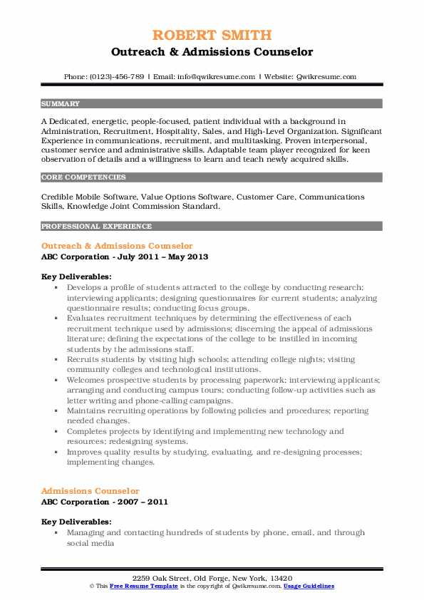 admissions counselor resume samples qwikresume enrollment pdf supply chain specialist Resume Enrollment Counselor Resume
