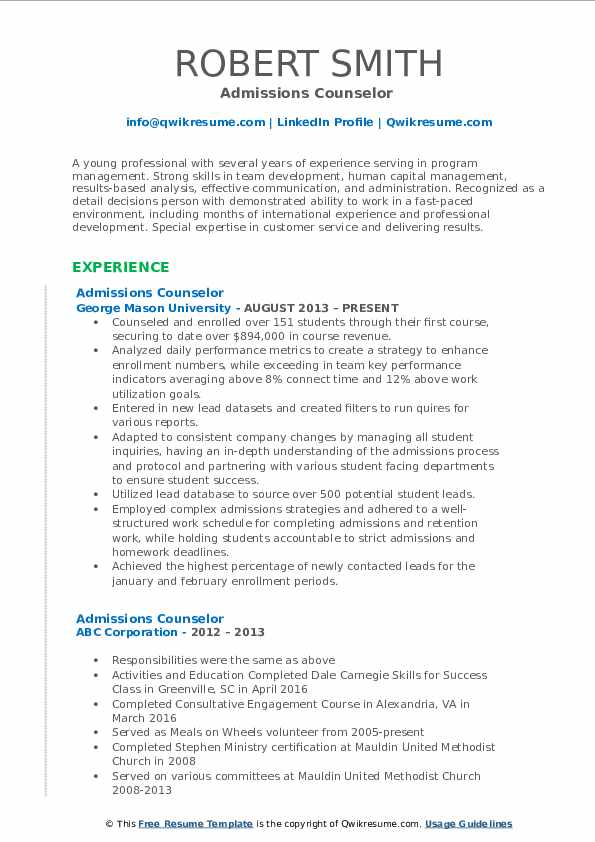 admissions counselor resume samples qwikresume enrollment pdf unscramble word collection Resume Enrollment Counselor Resume