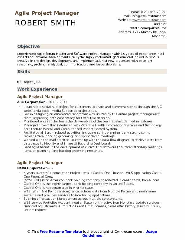 agile project manager resume samples qwikresume program pdf good objective for first job Resume Agile Program Manager Resume