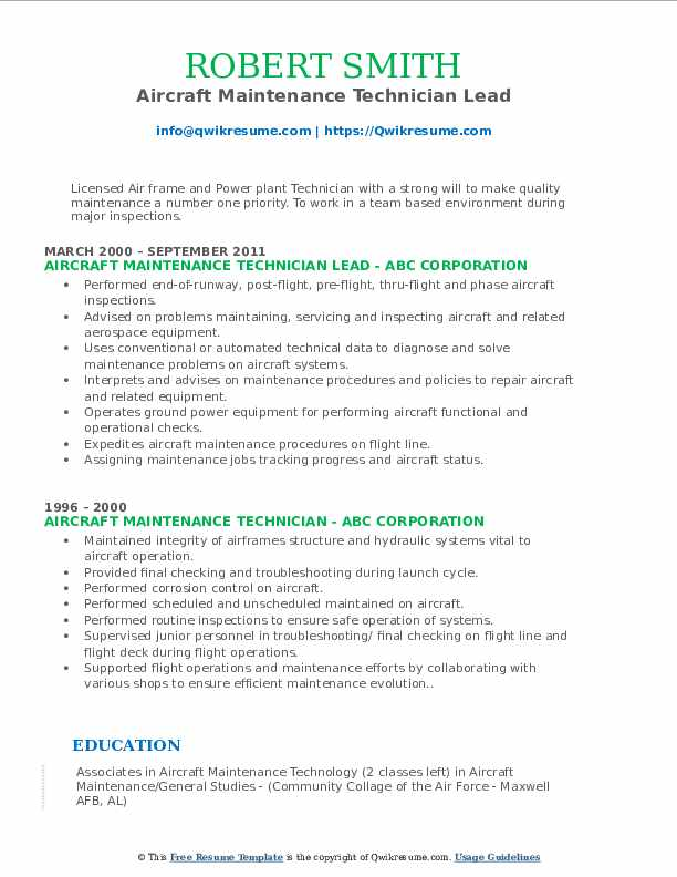 aircraft maintenance technician resume samples qwikresume aviation mechanic sample pdf Resume Aviation Mechanic Resume Sample