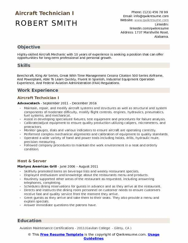 aircraft technician resume samples qwikresume aviation mechanic sample pdf best writing Resume Aviation Mechanic Resume Sample