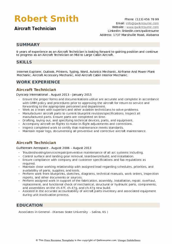 aircraft technician resume samples qwikresume summary examples for mechanic pdf patient Resume Resume Summary Examples For Mechanic