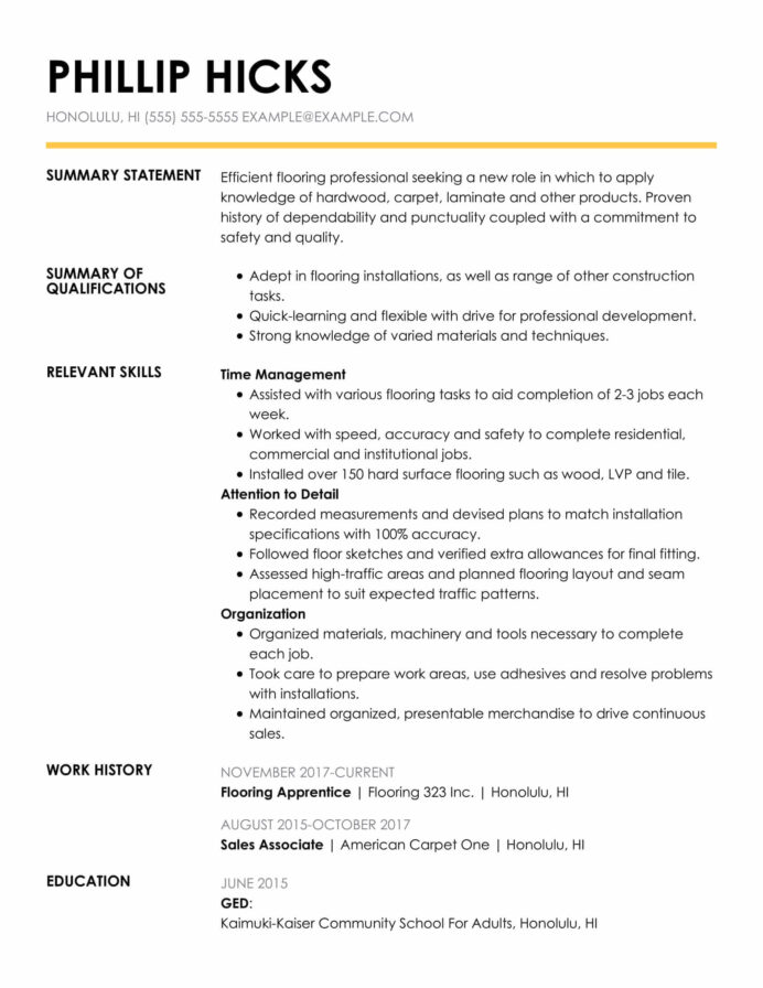 amazing construction resume examples livecareer qualifications and skills insightful func Resume Qualifications And Skills Resume