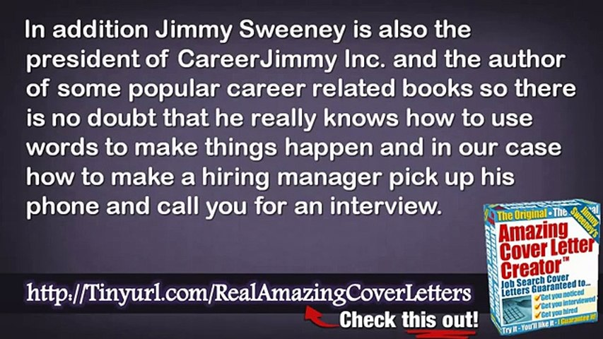 amazing cover letters jimmy sweeney review and great for resumes dailymotion resume Resume Jimmy Sweeney Amazing Resume Creator