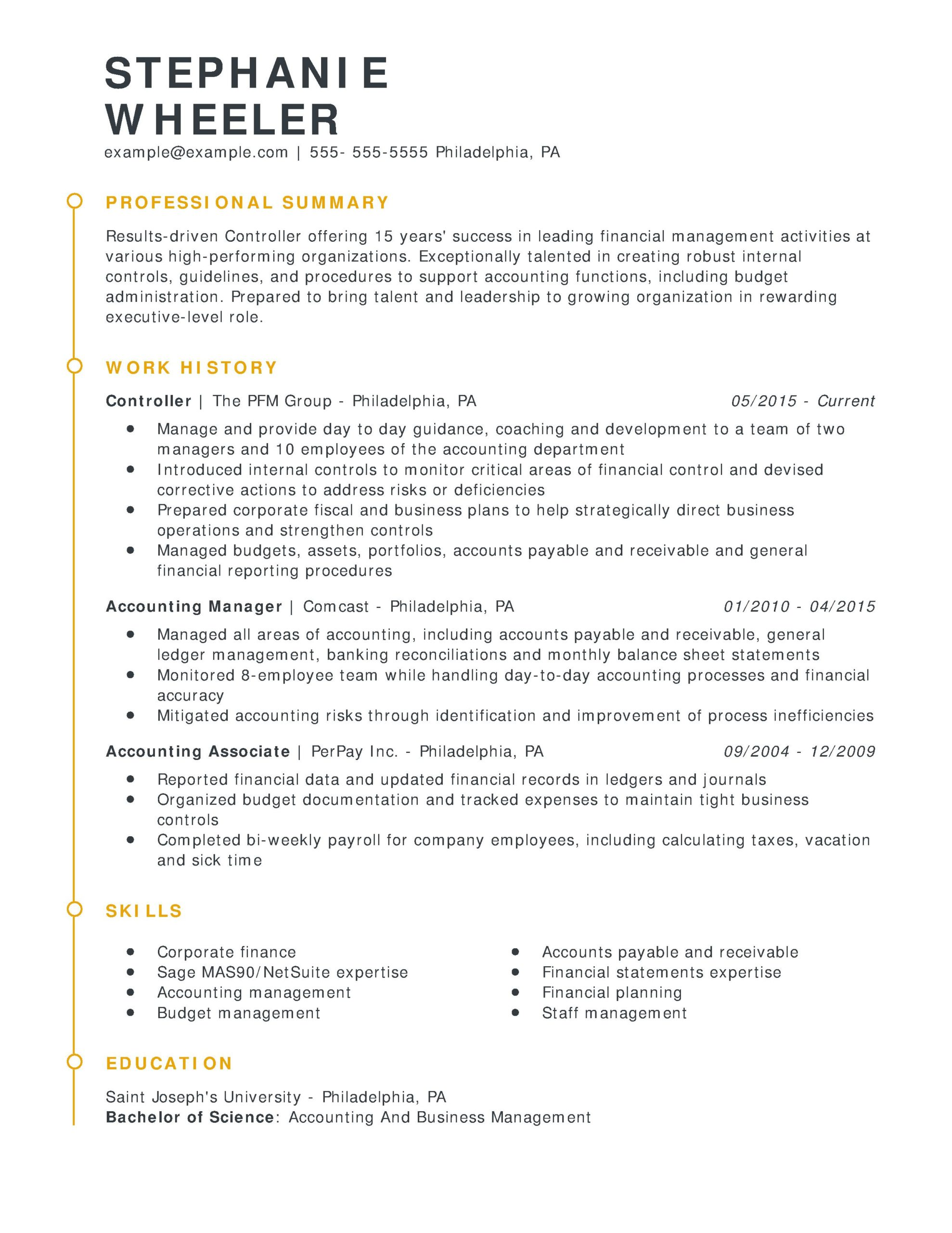 amazing finance resume examples livecareer sample for entry level job controller esteemed Resume Sample Resume For Entry Level Finance Job