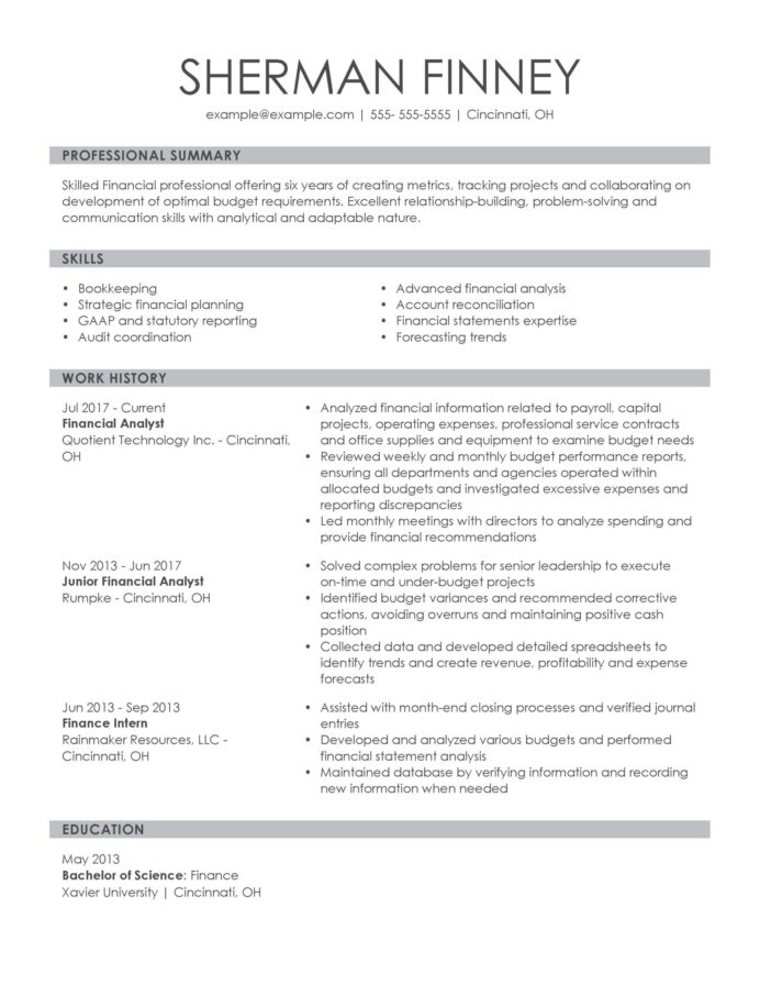 amazing finance resume examples livecareer skills on financial analyst knowledgeable Resume Finance Skills On A Resume