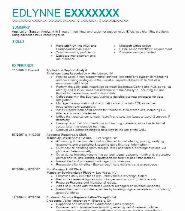 application support analyst resume example livecareer system typical college director of Resume System Support Analyst Resume