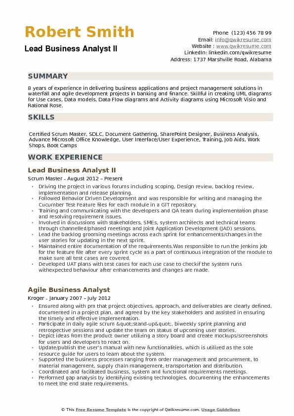 apply technical business analyst job description pdf today lead resume system Resume Lead Business Analyst Resume