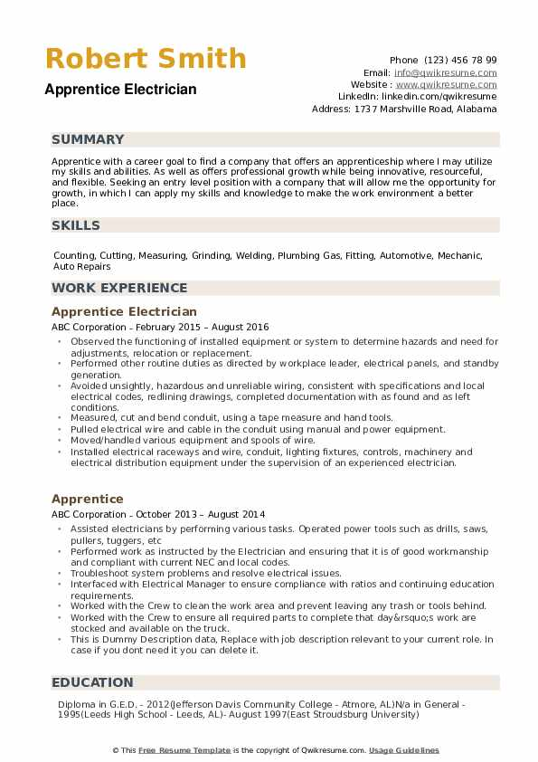 apprentice resume samples qwikresume electrical objective pdf microsoft wizard admin Resume Electrical Apprentice Resume Objective