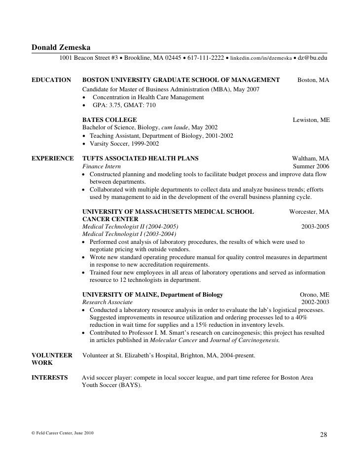 apps development pinwire level resume examples mins ago academic re objective cover Resume Feld Career Center Resume