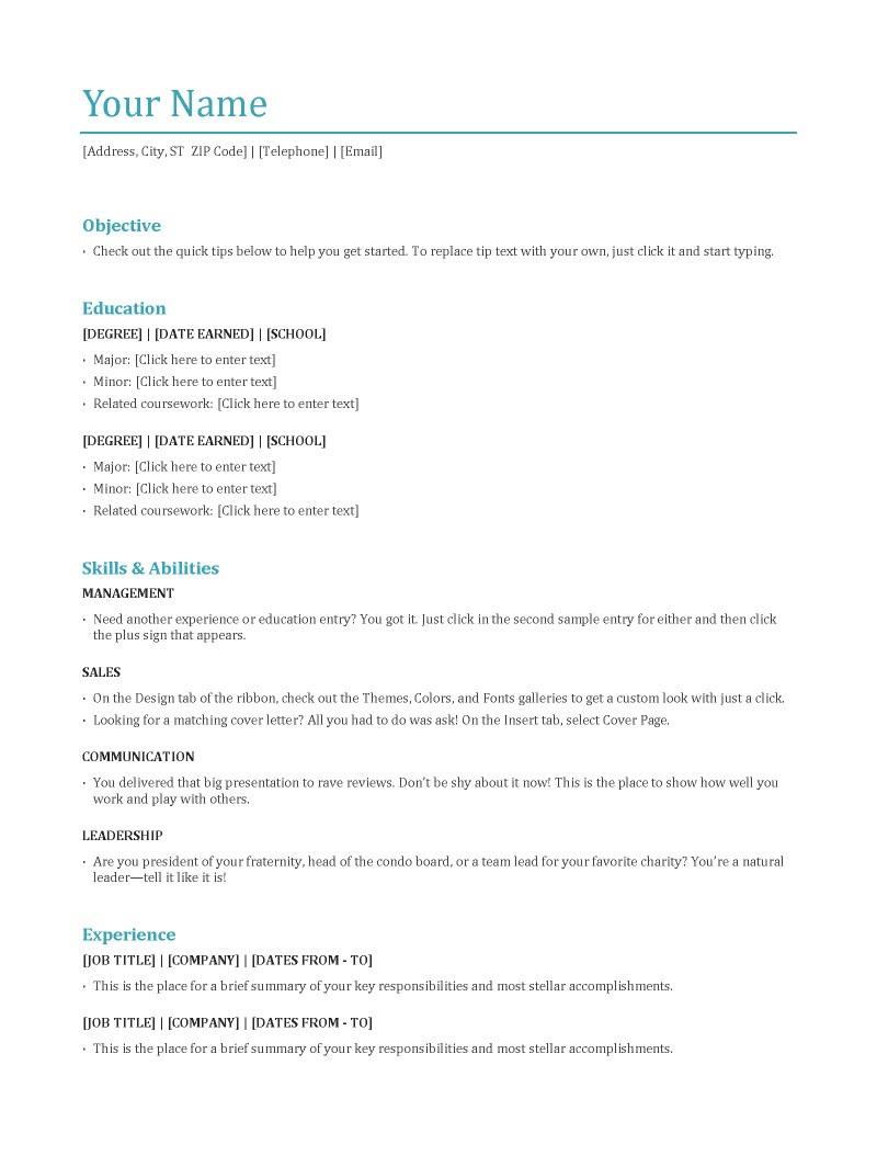are the main resume types jobcluster blog qualification format functional opening Resume Resume Qualification Format