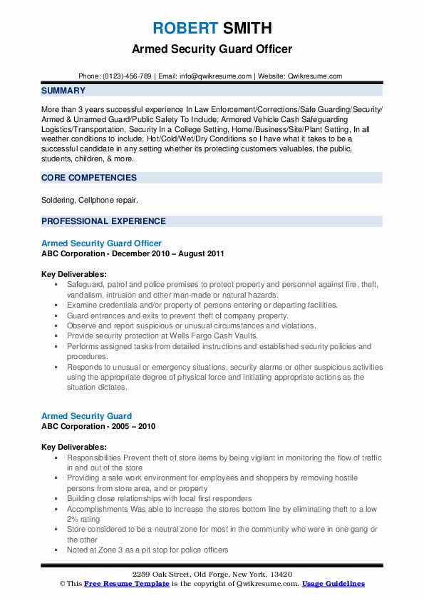 armed security guard resume samples qwikresume officer objective pdf should you put dates Resume Security Officer Resume Objective