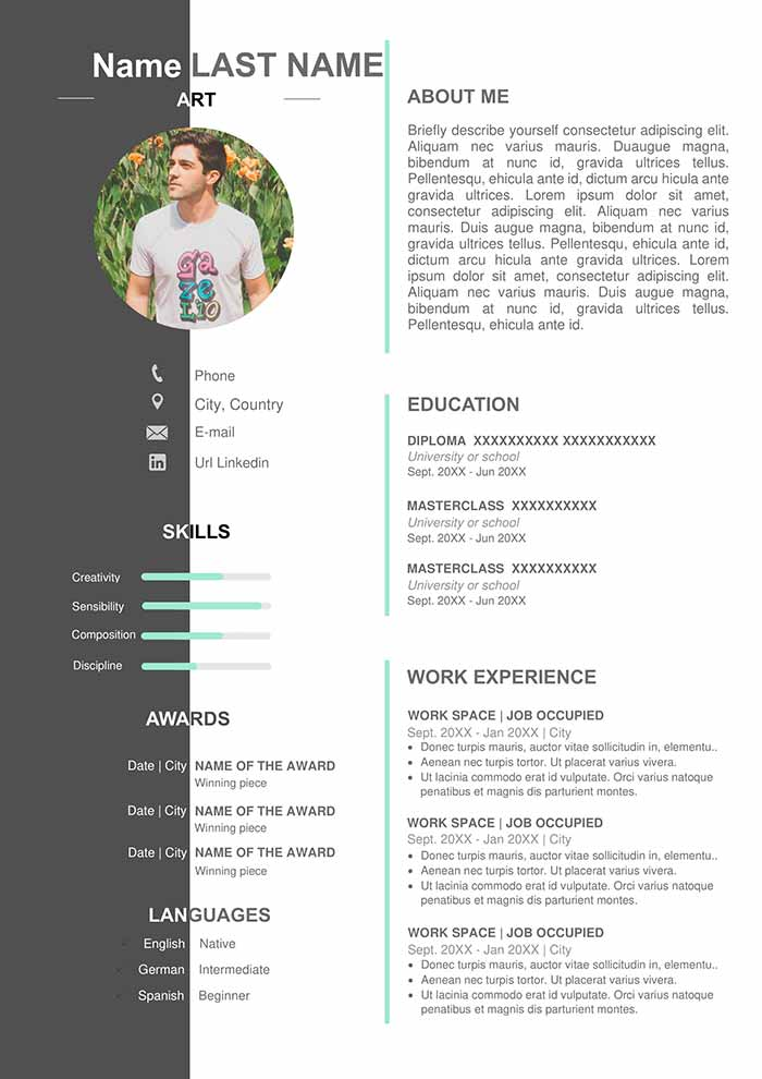 artist resume template free in word format curriculum vitae research technician sample Resume Artist Resume Template Free Download