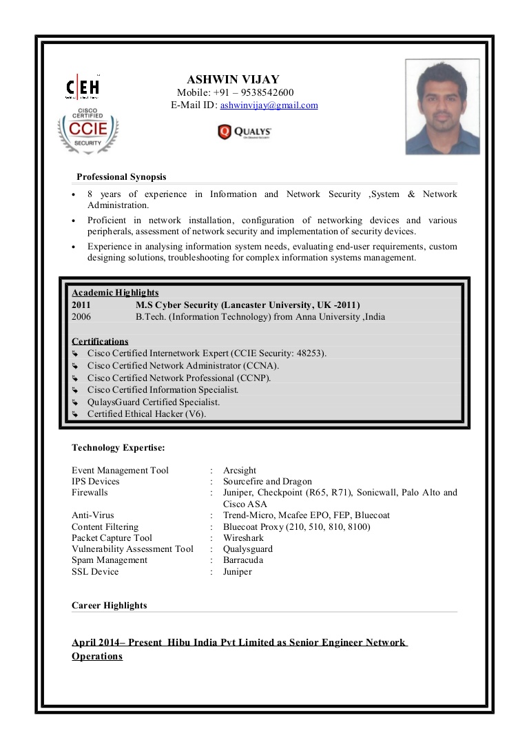ashwin resume checkpoint firewall engineer conversion gate02 thumbnail one year work Resume Checkpoint Firewall Engineer Resume