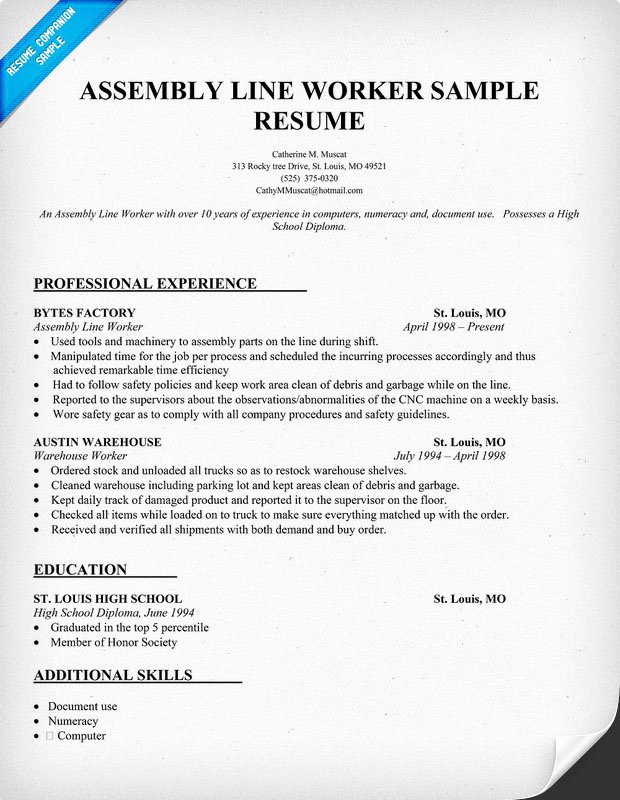 assembly line worker resume new production elfaro sample of sorority social template Resume Assembly Line Worker Resume Sample