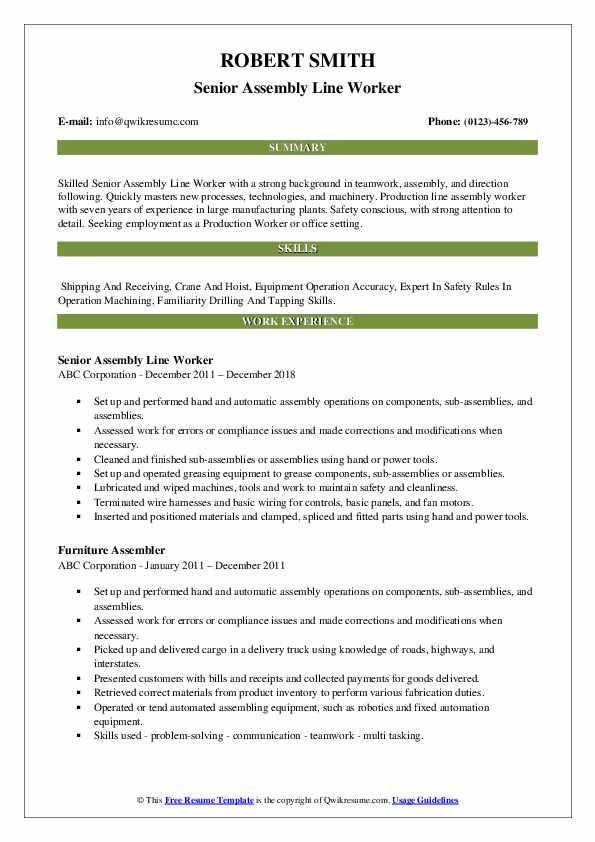 assembly line worker resume samples qwikresume sample pdf for surgical technologist Resume Assembly Line Worker Resume Sample