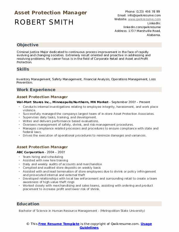asset protection manager resume samples qwikresume loss prevention sample pdf sap simple Resume Loss Prevention Manager Resume Sample