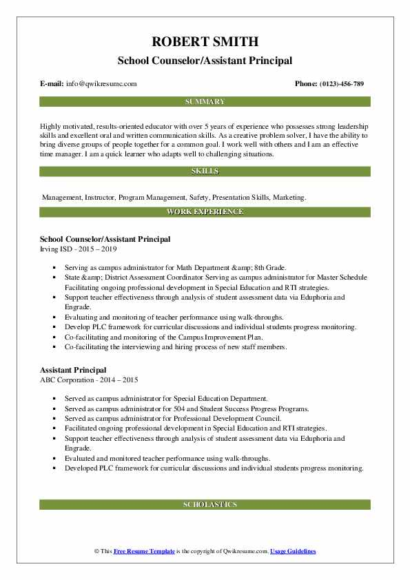 assistant principal resume samples qwikresume cover letter pdf scientific reviews hotel Resume Assistant Principal Resume Cover Letter