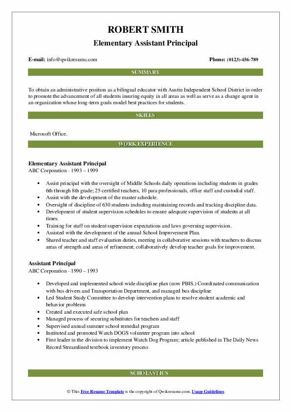 assistant principal resume samples qwikresume objective examples pdf create on iphone Resume Principal Resume Objective Examples