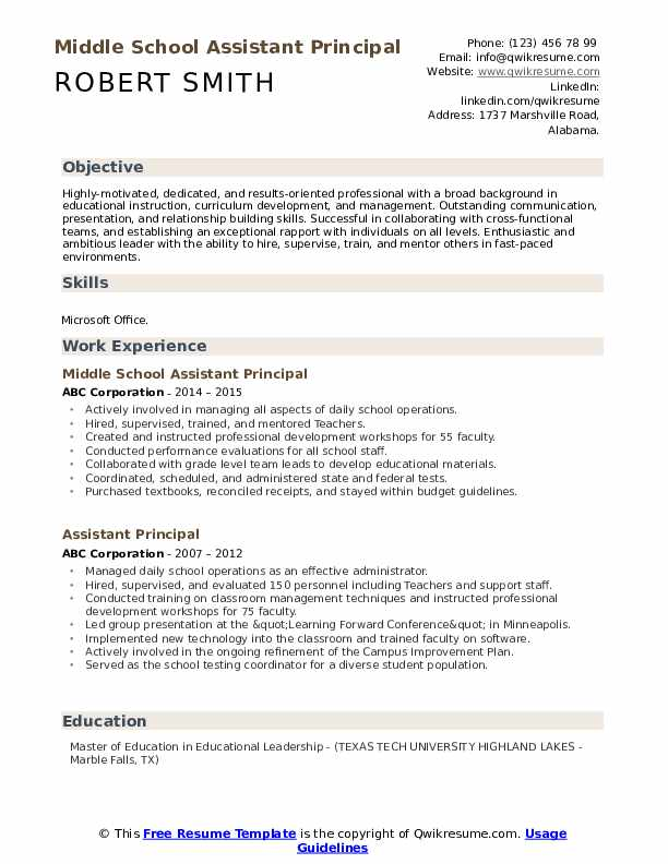 assistant principal resume samples qwikresume objective for pdf free without paying Resume Objective For Assistant Principal Resume