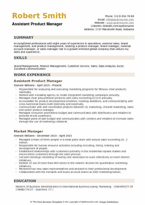 assistant product manager resume samples qwikresume management skills for pdf entry level Resume Product Management Skills For Resume