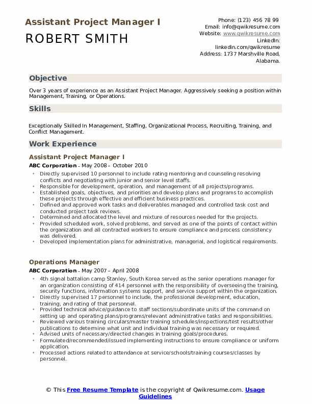 assistant project manager resume samples qwikresume military management pdf substitute Resume Military Project Management Resume