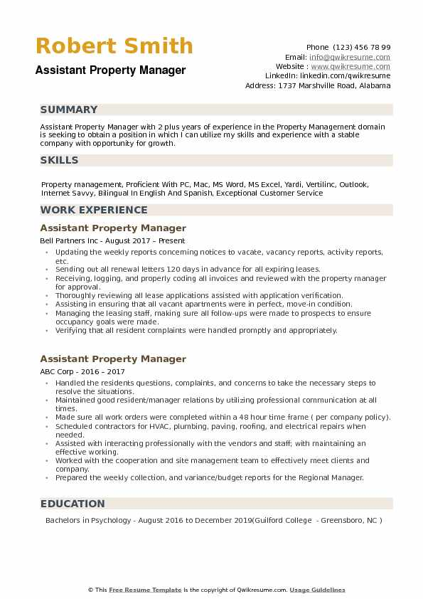 assistant property manager resume samples qwikresume sample pdf kfc ex yoga teacher Resume Property Manager Resume Sample